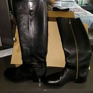 Tory Burch Size 5.5 Black Leather Riding Boots
